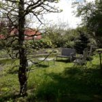 Le jardin vu depuis le gîte